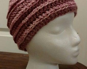 Warm, crocheted, winter hat