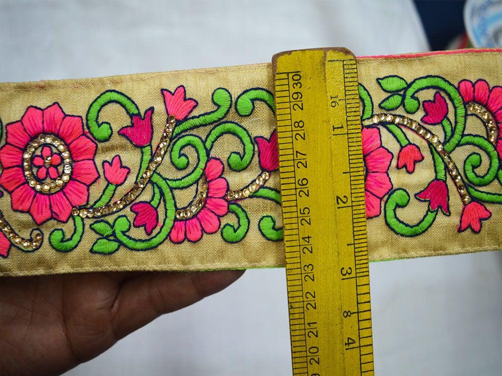 Embroidered Saree Border Trim Sewing Fabric Trim, Decorative ...