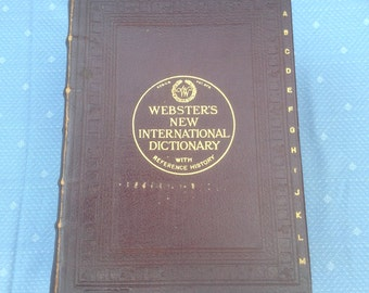 Webster's New International Dictionary of the English Language with Reference History of the World
