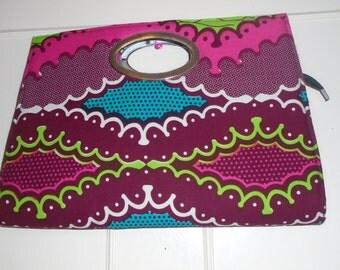 Africa Print Clutch Bag, Hand Bag