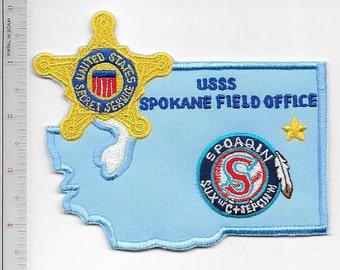 US Sercret Service USSS Washington State Spokane Field Office Spokane Indians Baseball Patch