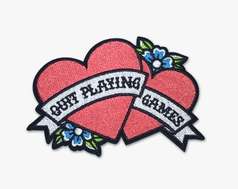 90s Iron On Patch - Backstreet Boys - Quit Playing Games (Pink)