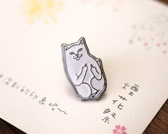 Cat Out Of The Bag - Enamel Pin // Cat // Badge, Brooch, Lapel Pin, Backpack Pin // Cute & Funky Accessories