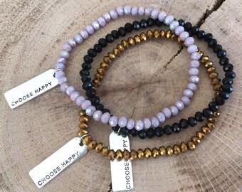 Choose Happy Charm Bracelet