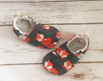 Sly fox tula shoes, baby moccs, toddler shoes, newborn shoes, baby booties, soft sole, stay on booties, baby gift