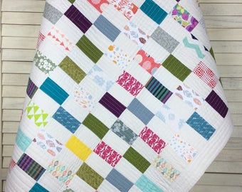 Baby Quilt, Patchwork Quilt, Patchwork Baby Quilt, Patchwork, Quilt, Scrappy Quilt, Modern Baby Quilt, Baby Bedding, Baby Shower, Cot Quilt