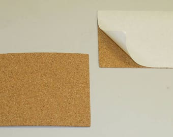 """6"""" x 6"""" Adhesive Backed Cork Square Tile Coaster Backing Material"""