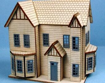 1:144 DIY Hampton Dollhouse Kit/Northeast Scale Dollhouse Kit KBM T502