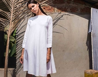 FURTHER MARKDOWN 50% OFF! tunic dress organic handwoven feel-linen cotton