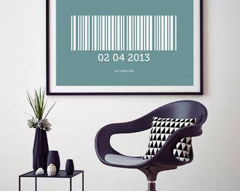 Personalised Barcode Print, for Friends, Couples, Family and Loved Ones