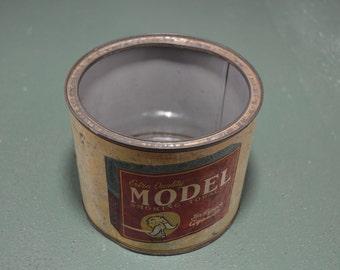 Model Tobacco Tin, Smoking Tobacco Tin, Early 1900s Tin, Vintage Tobacciana,  #410