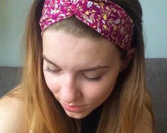 Pink Fields Twisted Headband
