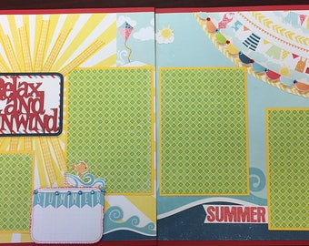 Relax and Unwind scrapbook layout