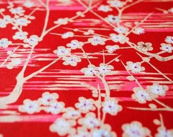 Handmade origami paper - Red sakura