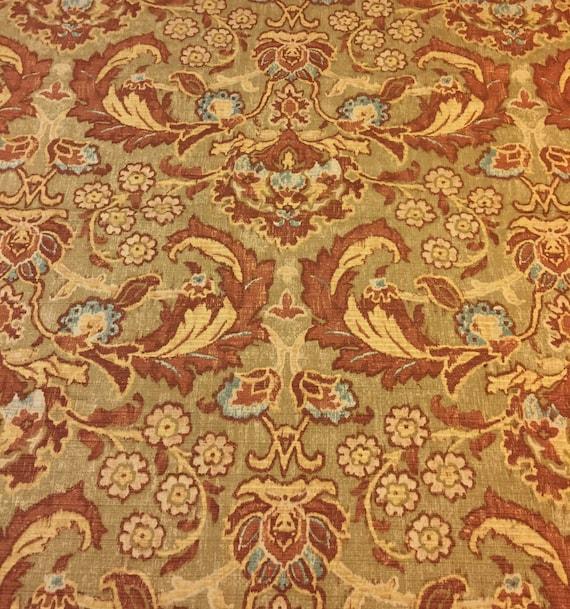 Burgundy Paisley Home Decor Fabric. Paisley Upholstery Fabric