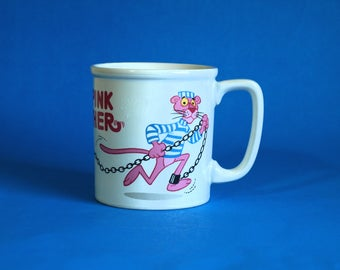 Vintage The Pink Panther Mug - Inspector Clouseau UAC Geoffrey Collectable Coffee Cup - Made in Japan