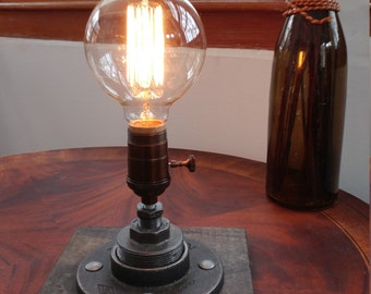 Industrial  Table lamp  Edison Steampunk lighting rustic lighting  desk lamp