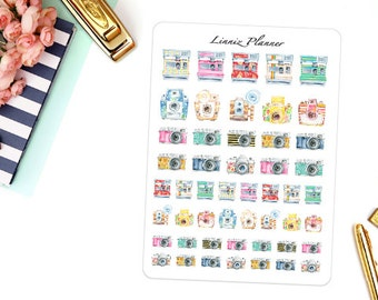 Camera (Matte planner stickers, perfect for planners)