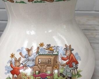 vintage Bunnykins lamp, Royal Doulton,  baby nursery, collectible, 1983-85, newborn nursery decor