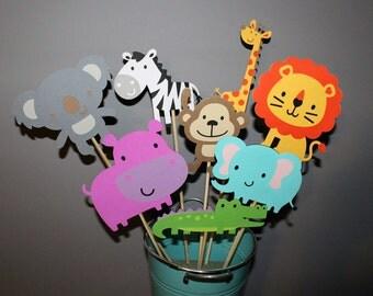 Jungle Theme Birthday Centerpiece Sticks, Jungle Party, Safari Party Decor