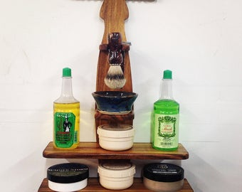Valentine gifts for him, Shave den shelf, gifts for him, MrMartinsGiftsForMe Gifts for Men, wet shaving