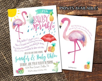 FLAMINGO BABY SPRINKLE | Watercolor Summer Baby Shower