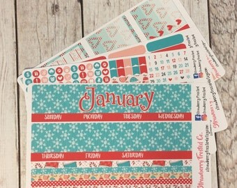 January---- Monthly Planner Kit ---- {Includes 160+ Stickers}