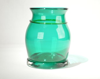 Hand Blown Glass Vase Green