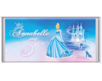 Completed Personalised Cinderella Wrapped Mini Chocolate Bars