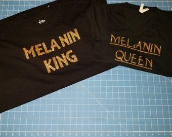 Matching Melanin Queen/King t-shirt set