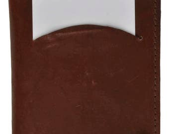 Genuine Leather Credit Card Wallet with Transparent Sleeves Brown, Tan And Burgundy 571 CF