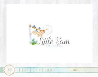 Baby Logo Design, Nursery Logo, Doula Logo, Nest Logo, Childcare Logo, Watercolor Logo, Photography Logo, Boutique Logo, Newborn Logo