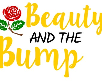 Beauty and the Bump - svg file