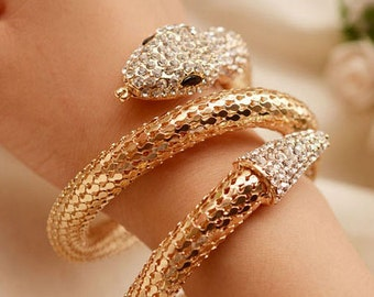 Snake Bracelet, Fashion Snake Bracelet, 18 k Gold Snake Bracelet, Snake  Bracelet silver good.