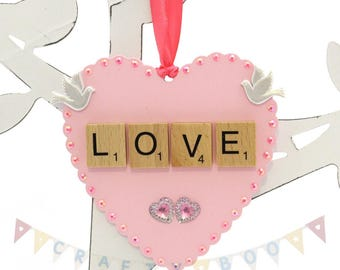Wooden heart, love heart, heart tag, engagement gift, wedding gift, home decor