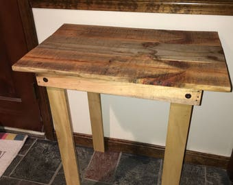 Rustic Table, Handmade from Wood Pallets, Entry Way Table or for Small Spaces Great Holiday Gift, Holiday Special Free Shipping