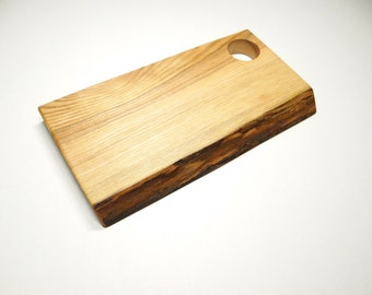 Ash wood cutting board, rustic cheese board, christmas gift, cutting board, rustic decor (032)