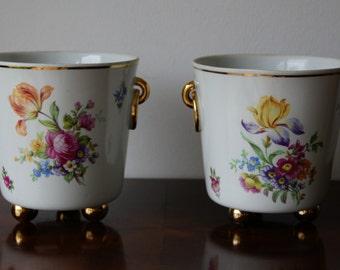 Vintage Ilmenau Flower Pots Pair Made in Germany
