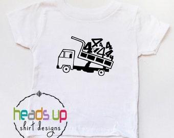 Dump Truck Birthday Shirt 4 - Fourth Birthday Truck tshirt Toddler Boy/Girl - Kids Bday Dump Truck Tee - Trendy Dump Truck Shirt - Gift -