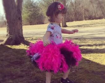 Tutu Skirt, Feather Lace Tutu Skirt, Birthday Tutu, Party Tutu Skirt, First Birthday Tutu, Feather Skirt, One Year Photo Prop, Feather Tutu