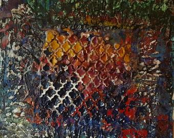 "Encaustic painting 12x12"""