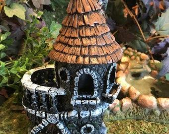 Miniature Fairy Castle with Balcony