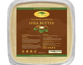 32 oz Bulk Raw Shea Butter - Perfect for All Your DIY Home Recipes Like Soap Making, Lotion, Shampoo, Lip Balm and Hand Cream