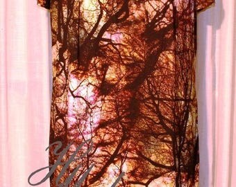 Summer dress with trees print