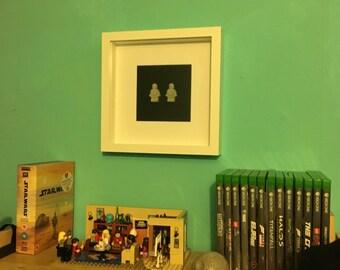 Concrete Lego mini figure 3D frame