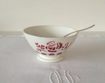 Vintage French footed cafe au lait bowl