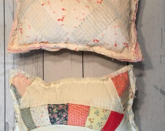 Tattered Quilted Pillows for Girls