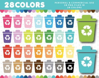 Garbage clipart, Cleaning Clip art, Trash Can clipart, Household clipart, Trash can Icon, Chores clipart, Recycling clipart, CL-1298