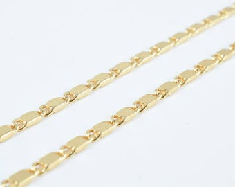 "Pinky Gold Filled Scroll Chain 17.5"" Inch 18k Gold-filled 2mm Width 1mm Thickness gold filled jewelry making CG50"