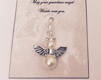 10 X Guardian angel charm, Wedding gift, wedding favours. different quantities available.
